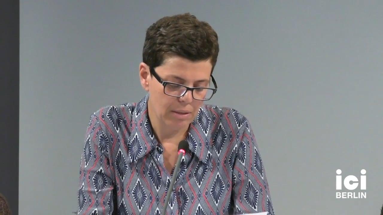 Talk by Ruth Preser (Panel I)