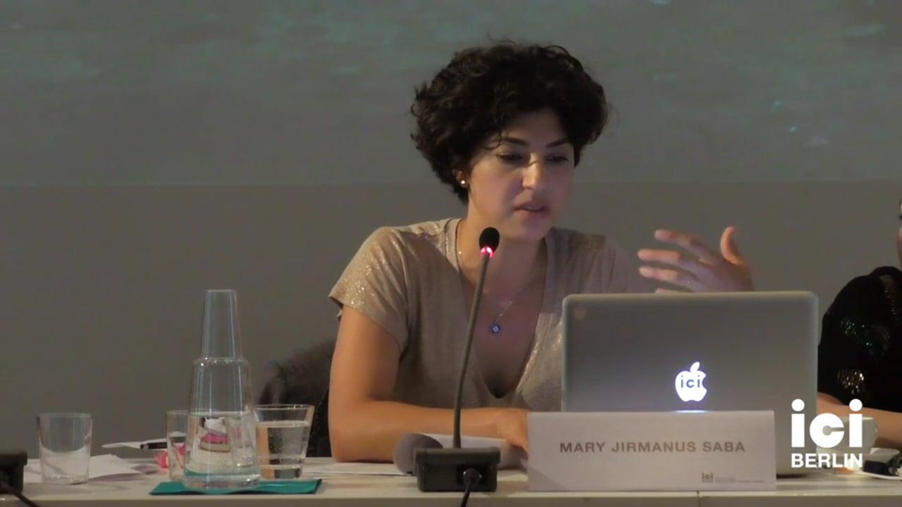 Talk by Mary Jirmanus Saba (Panel IV)