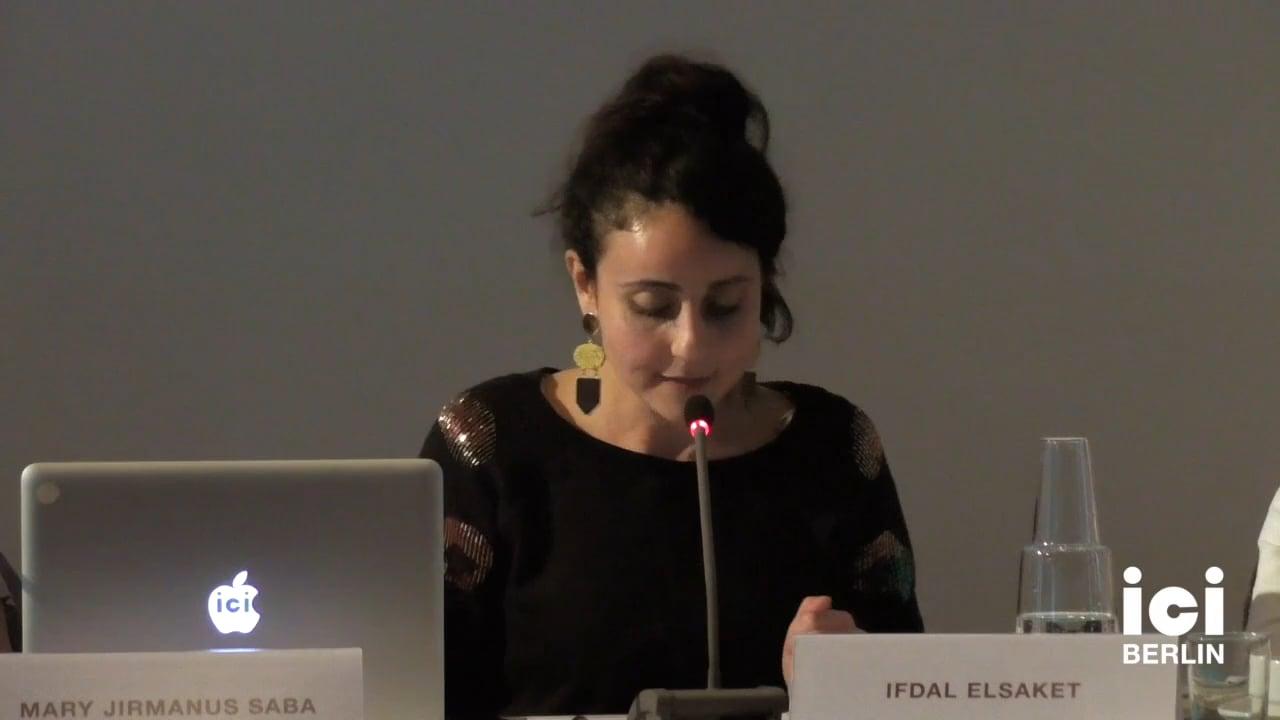 Talk by Ifdal Elsaket (Panel IV)