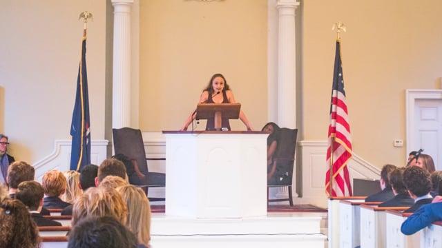 Millbrook Chapel Talk - Lily Lazarus '18