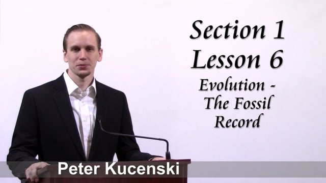 LtBwML Lesson 6 (Section 1) - Evolution and the fossil record