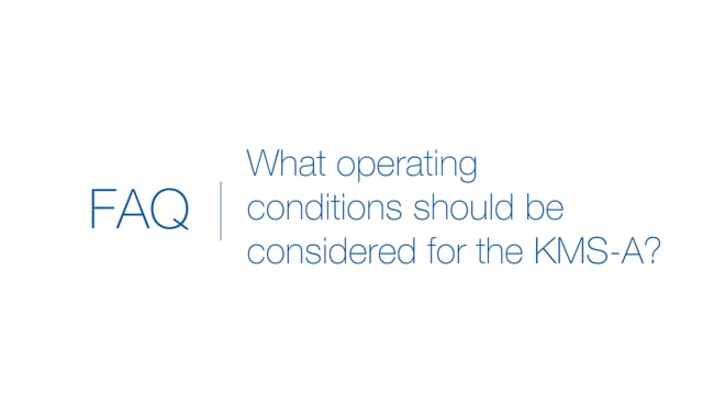 What operating conditions should be considered for KMS-A medical power supplies?