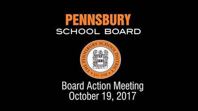 Pennsbury School Board Meeting for October 19, 2017