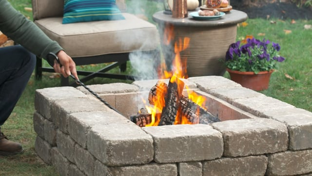 Lowe's How to Build a Modern Fire Pit