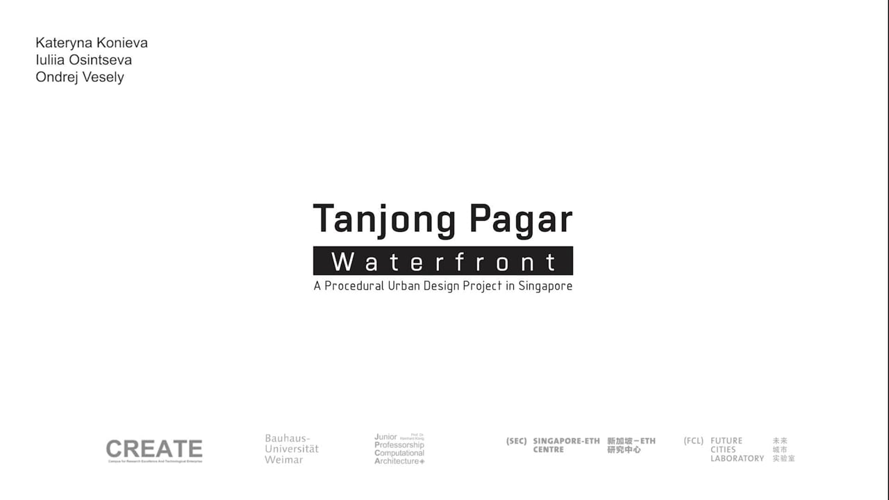 Procedural Masterplanning for Waterfront Tanjong Pagar