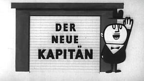 Kapitän - Zeichentrickfigur fährt imaginären Wagen 1958