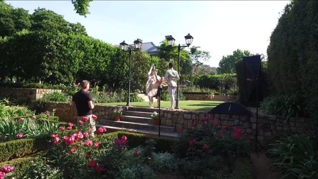 Rose Garden photo shoot - behind the scenes