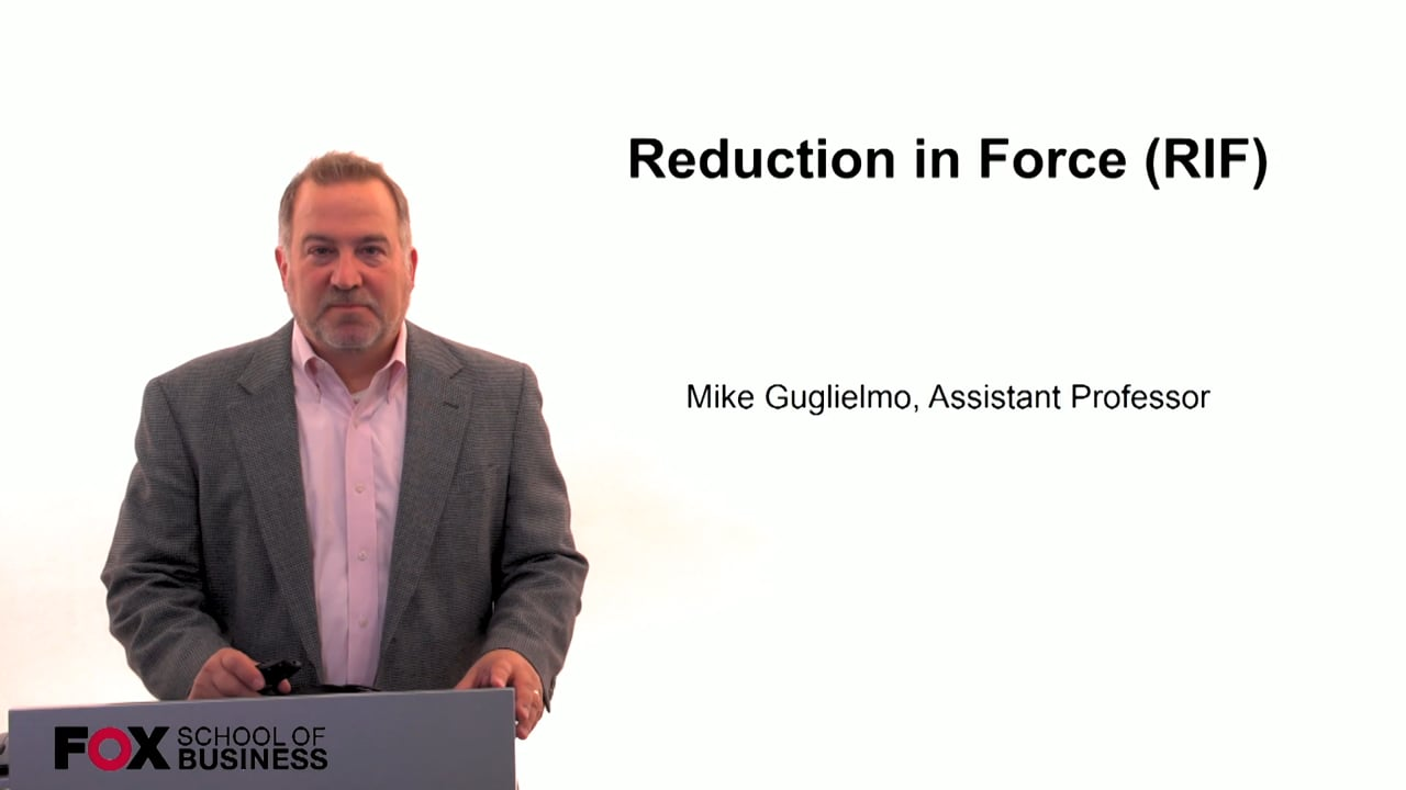 59987Reduction In Force (RIF)