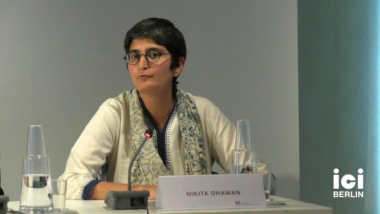 Talk by Nikita Dhawan (Panel IX)
