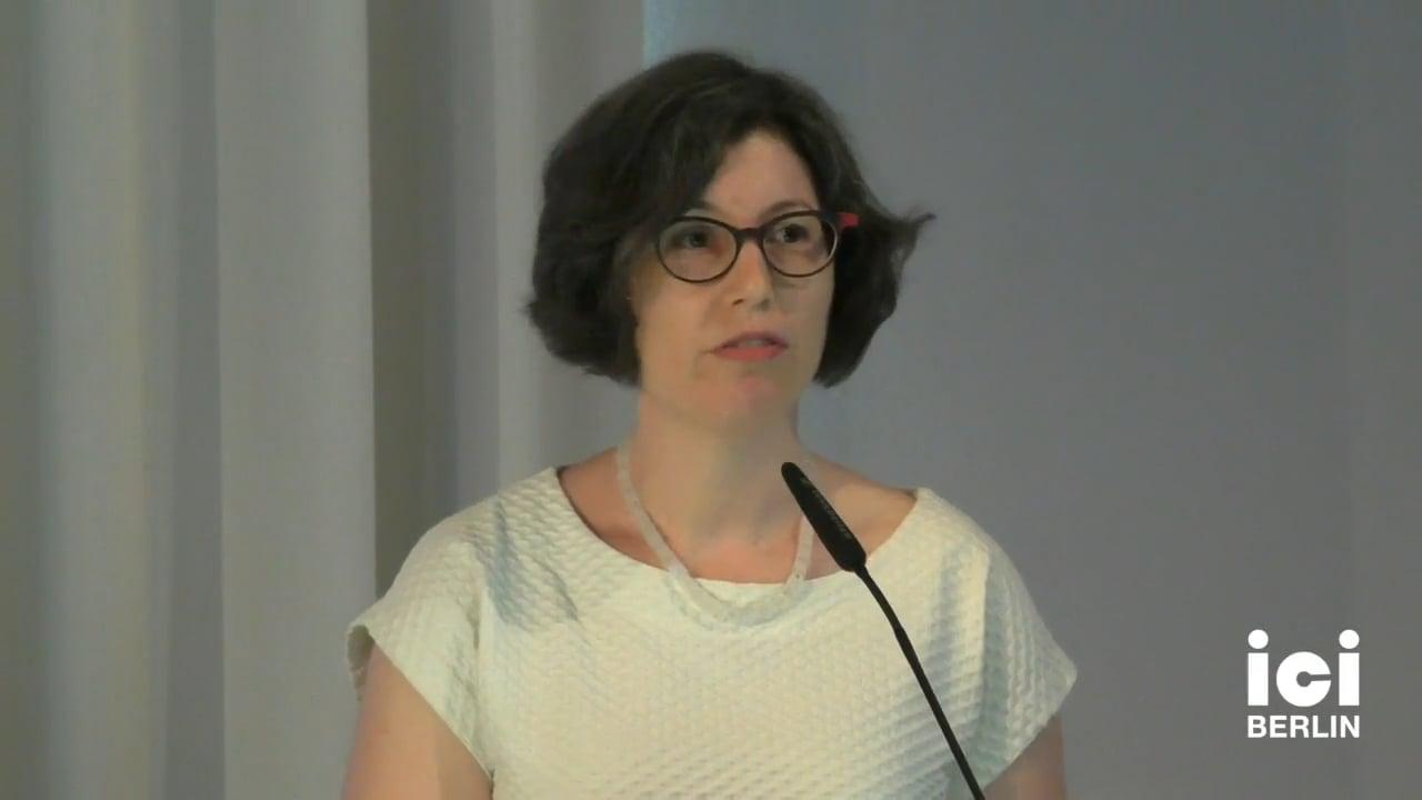 Talk by Sarah Casteel (Panel IV)