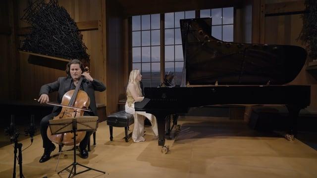 Zuill Bailey & Natasha Paremski play Rachmaninoff: Sonata for Cello and Piano in G minor, Op. 19 - 3. Andante