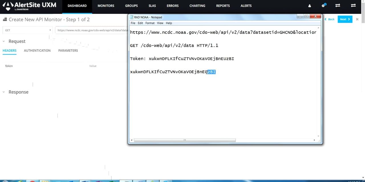 API Endpoint Monitor Set-Up