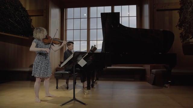 Caroline Goulding and David Fung play Schumann: Sonata for Violin and Piano No. 2, Op. 121 - 4. Bewegt