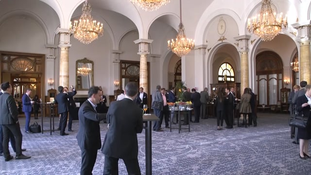 Networking at Montreux Palace timelapse