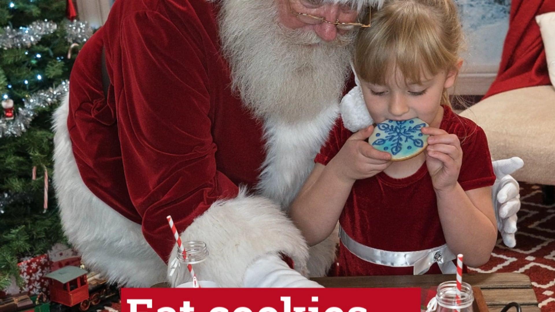 Kids love Santa!