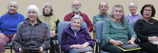 The Senior Troupe of Lifelong in rehearsal of stories from their lives: Adventure   Fall 2017