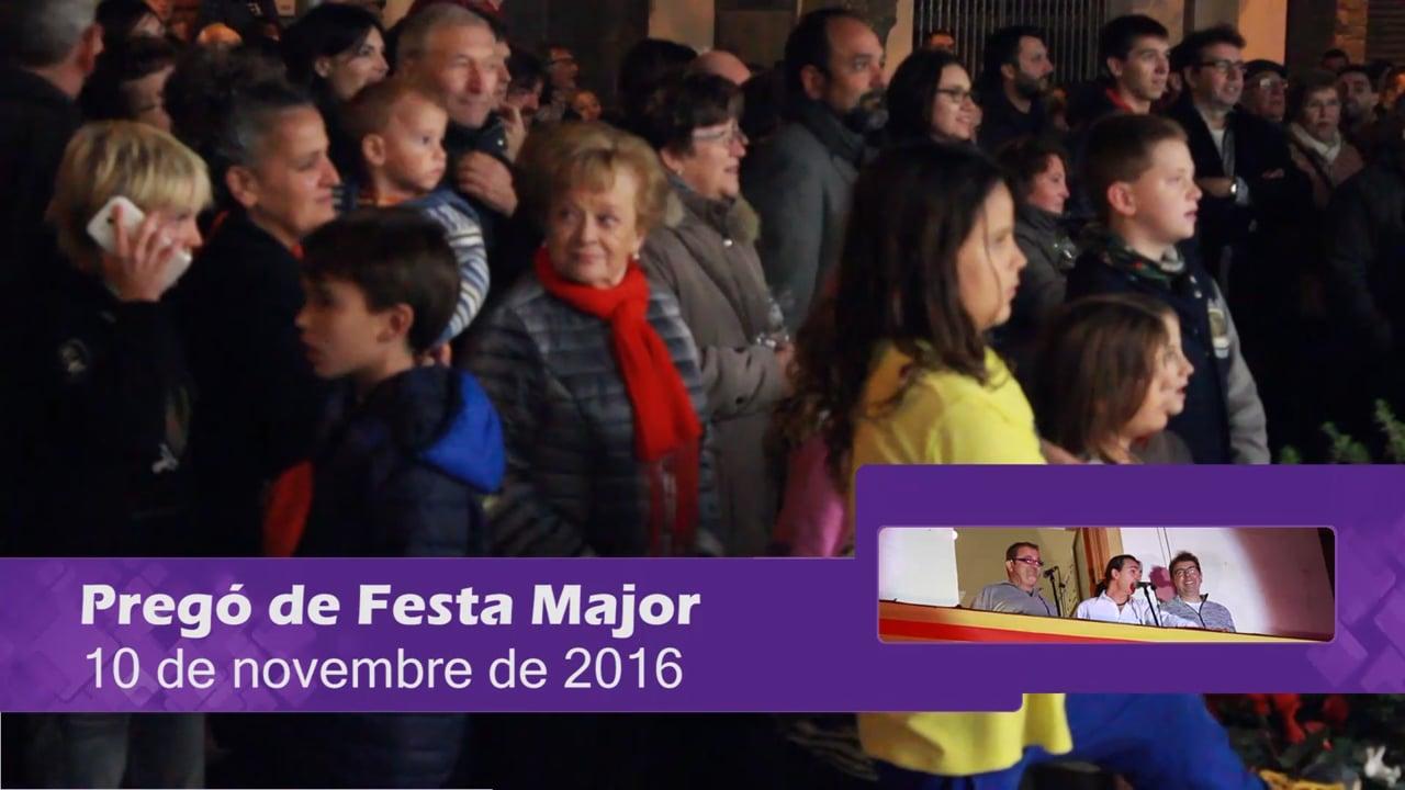Pregó de Festa Major 2016