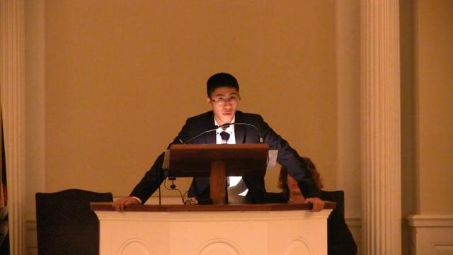 Millbrook Chapel Talk - Zihan Chen '18