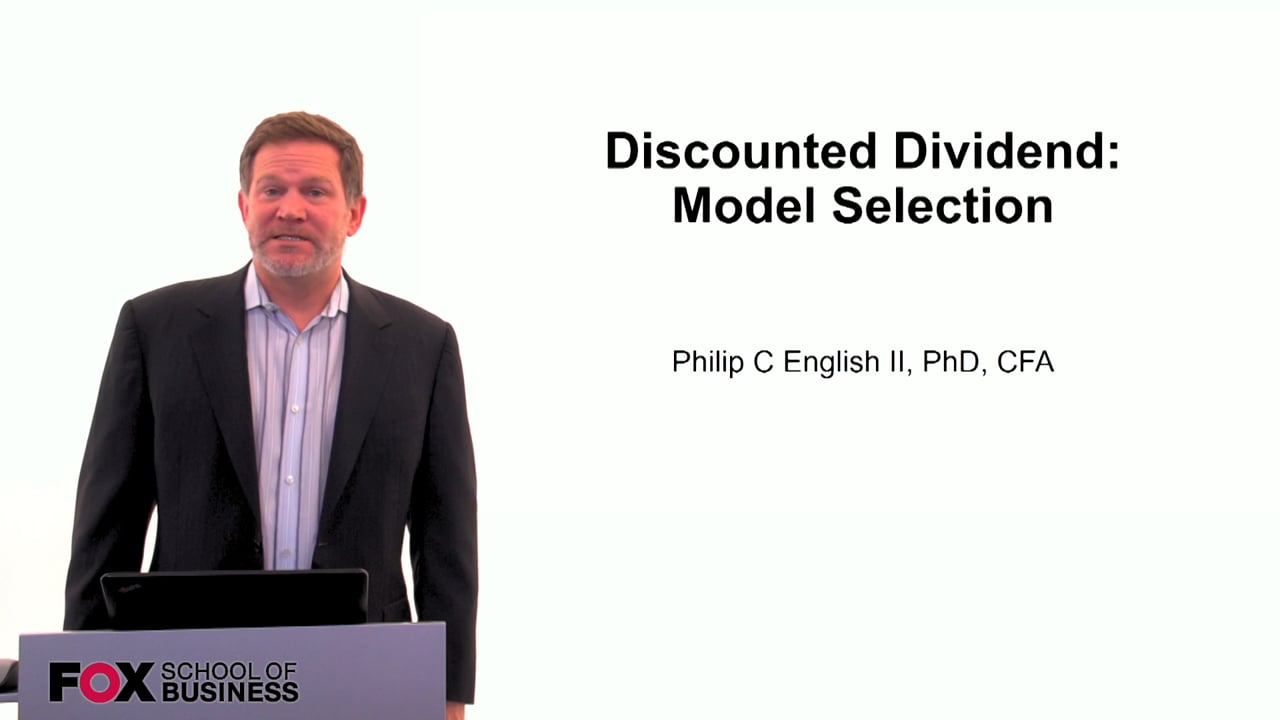 60109Discounted Dividend: Model Selection