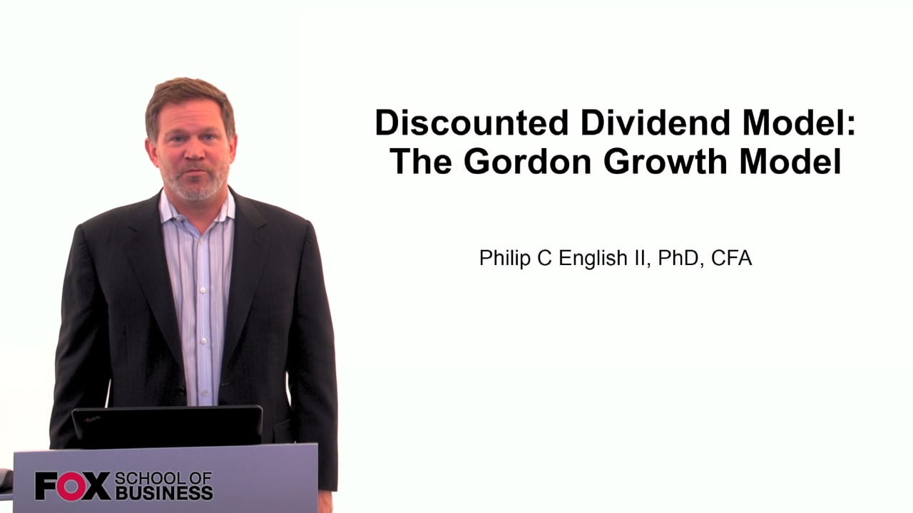 60110Discounted Dividend Model: The Gordon Growth Model