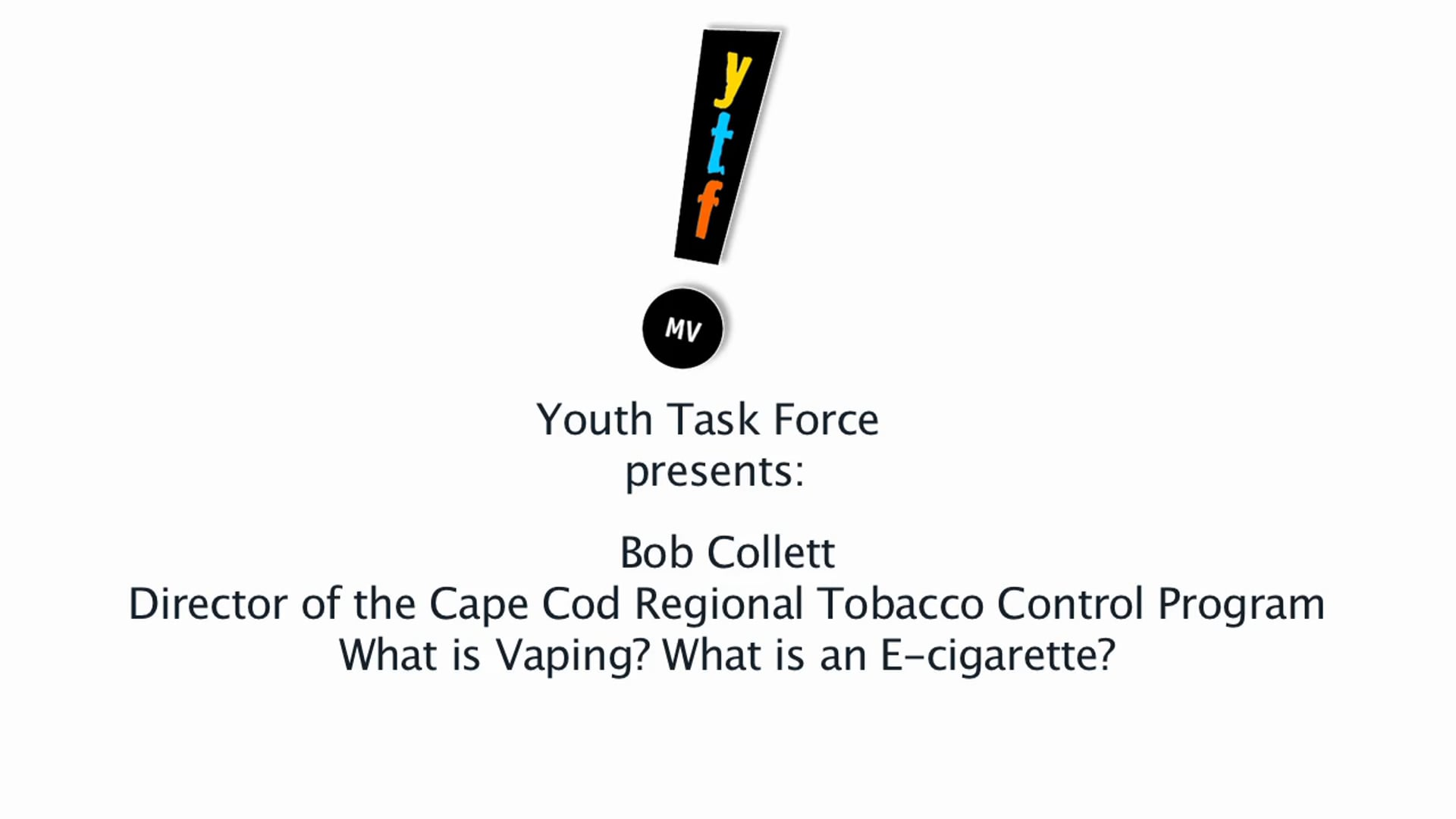 Bob Collett - What is Vaping,  What is an E-cigarette?
