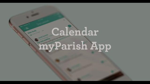 Calendar Button in myParish App