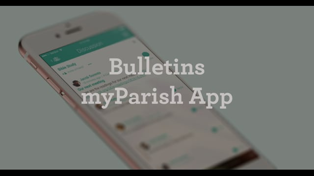 Bulletin Button in myParish App