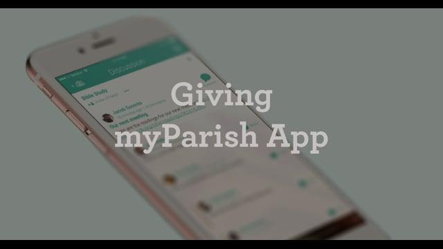 Giving Button in myParish App