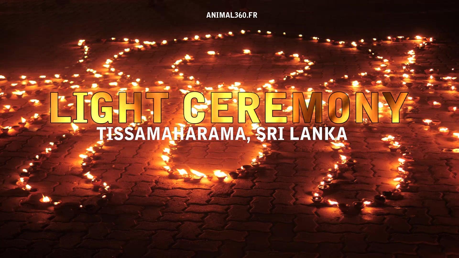 Cérémonie des lumières à Tissamaharama