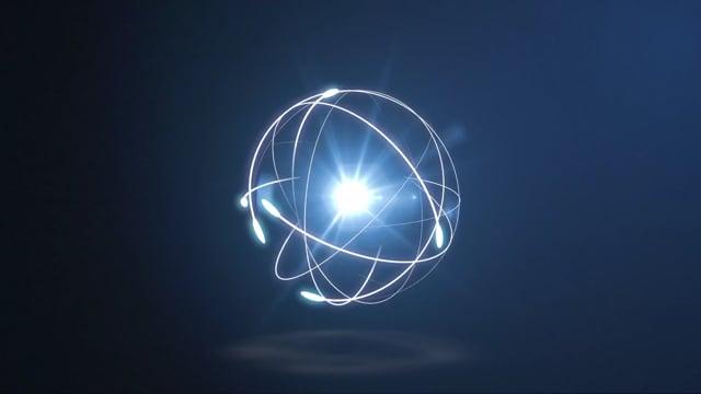 atoms, electrons, logo
