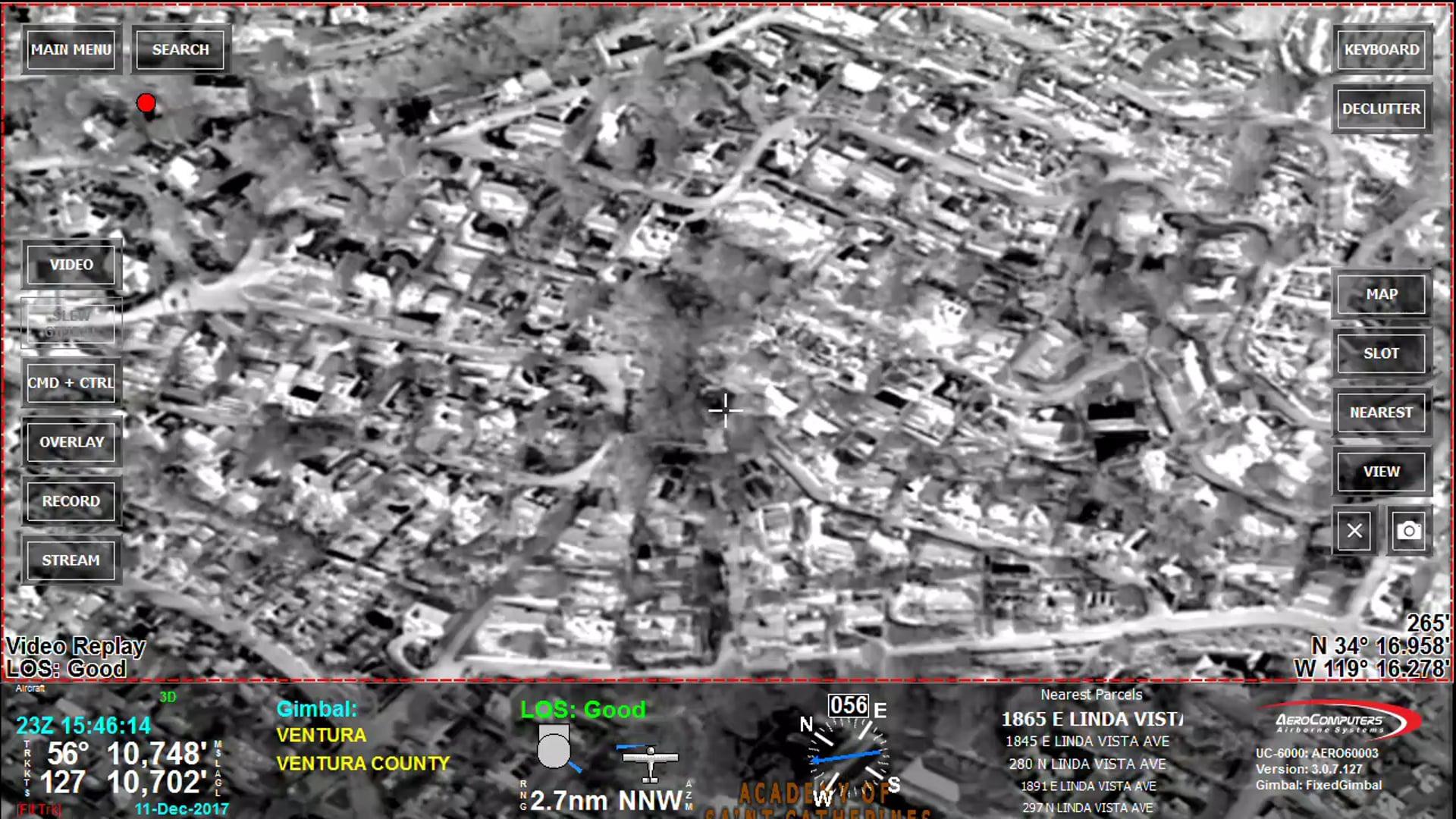 UC-6000 Thomas Fire Damage Assessment on Terrace Drive, Ventura, CA