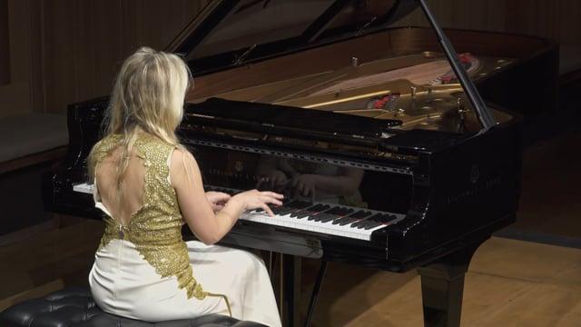 Natasha Paremski plays Prokofiev: Sonata No. 7 in B-flat Major, Op. 83, mvt. 3 - Precipitato