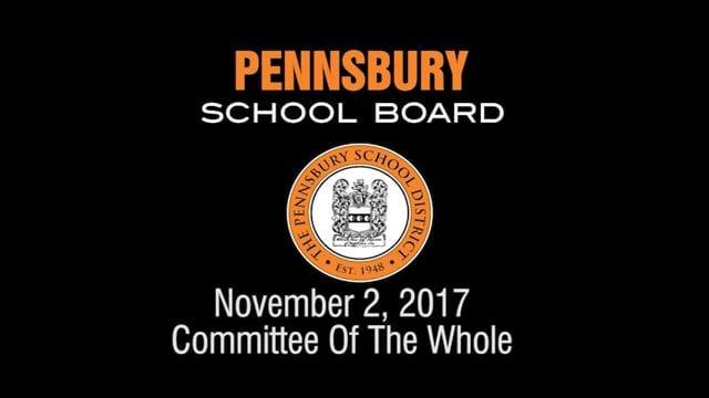 Pennsbury School Board Meeting for November 2, 2017
