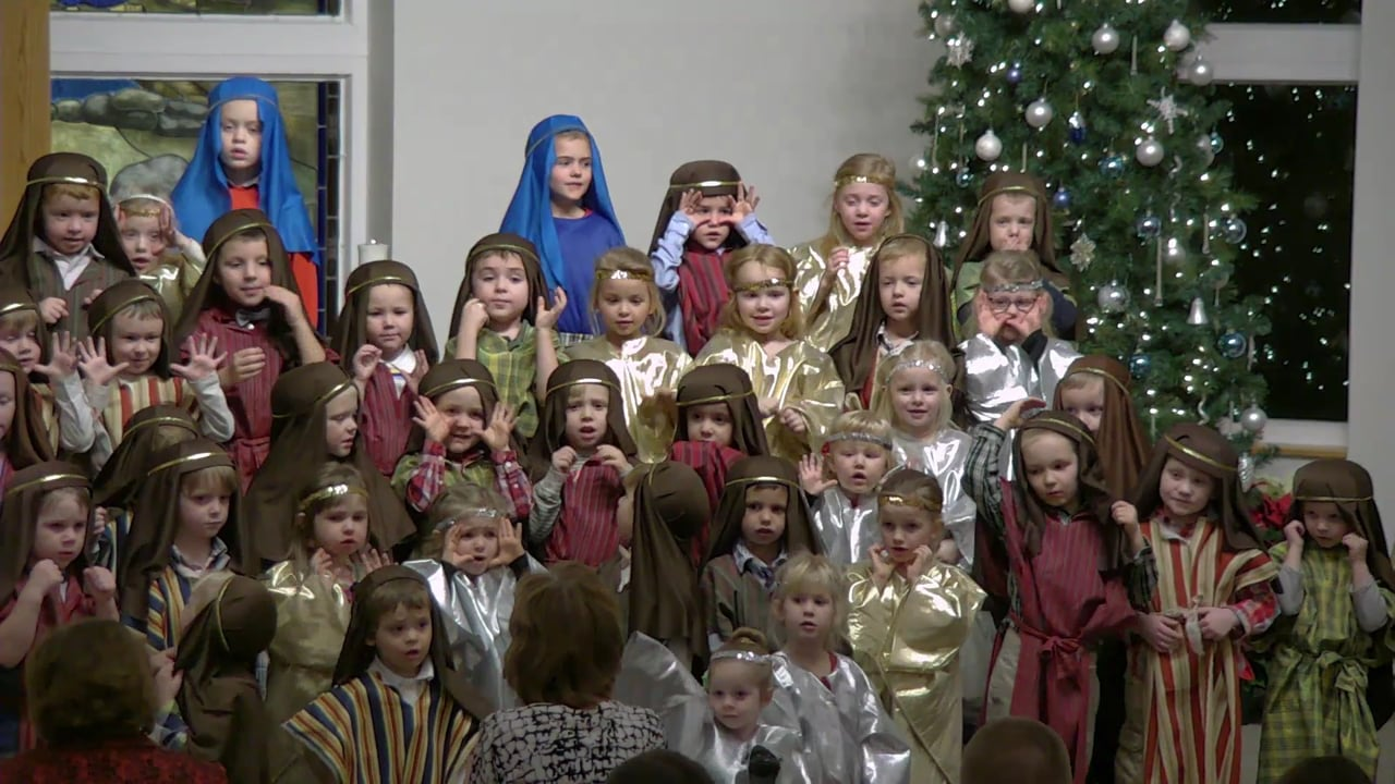 Peace Lutheran Preschool Christmas Service, December 15, 2017