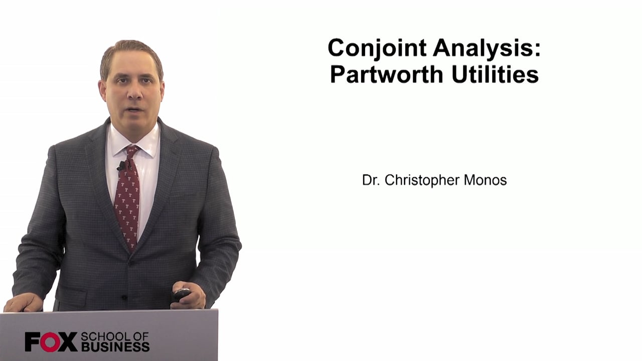 60080Conjoint Analysis- Partworth Utilities