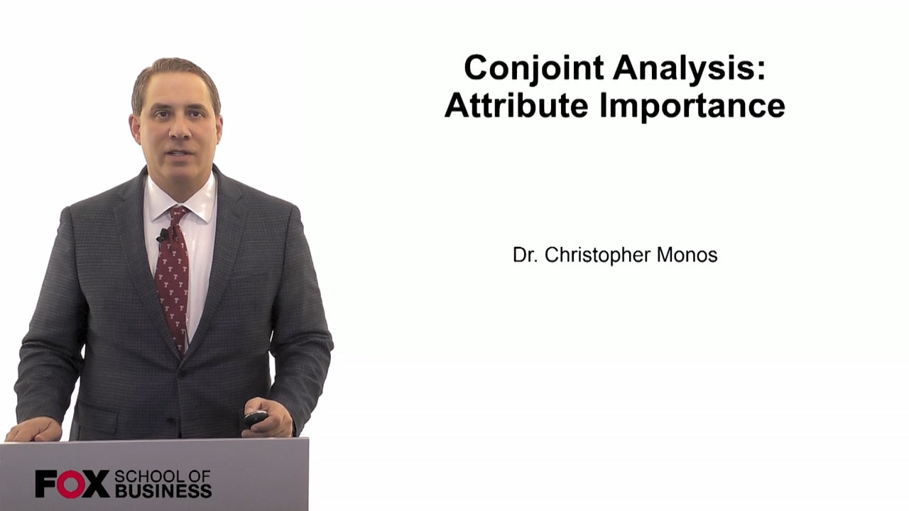 60074Conjoint Analysis- Attribute Importance