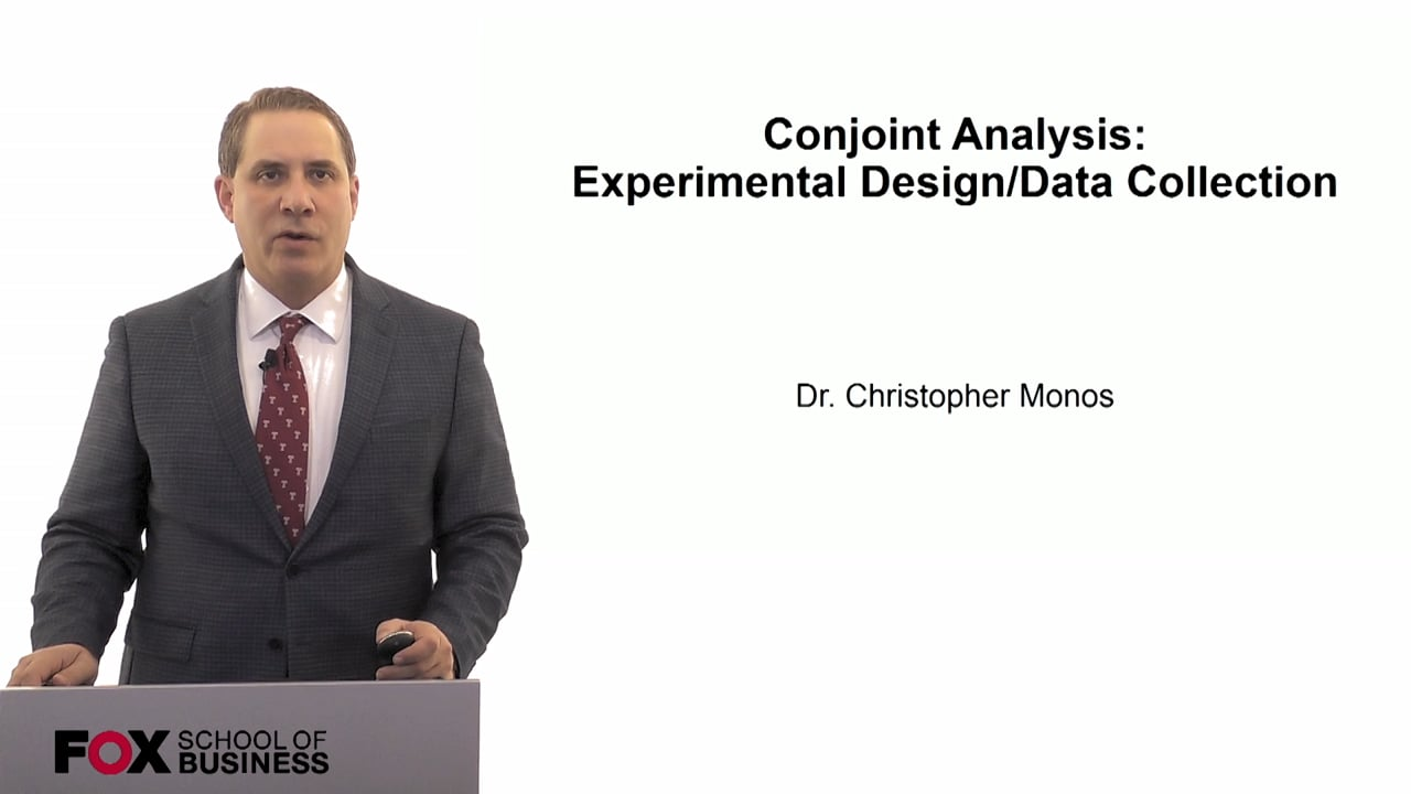60078Conjoint Analysis- Experimental Design/Data Collection