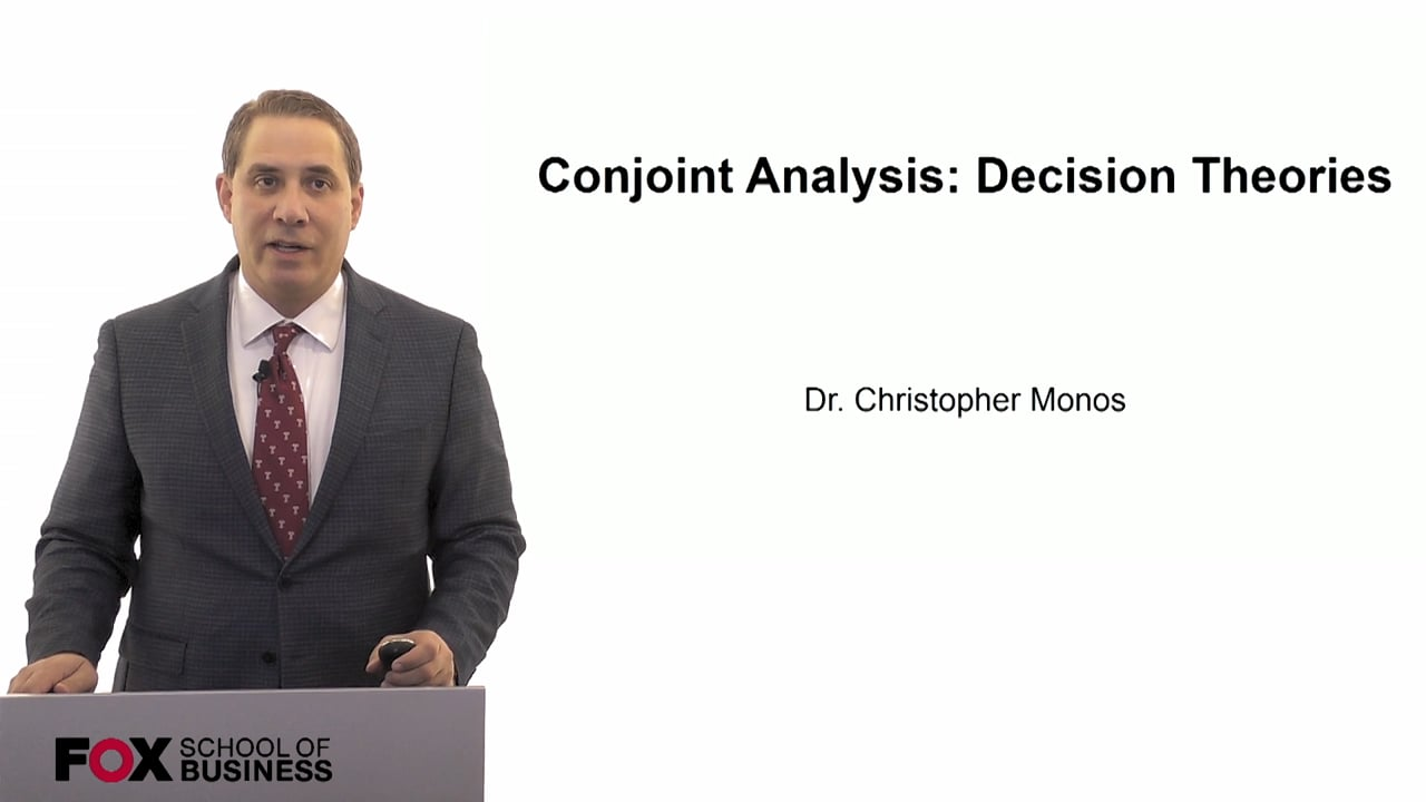 60077Conjoint Analysis- Decision Theories