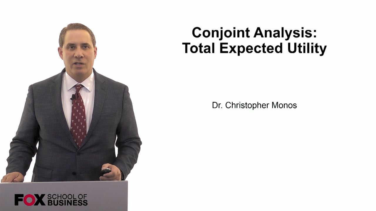 60081Conjoint Analysis- Total Expected Utility