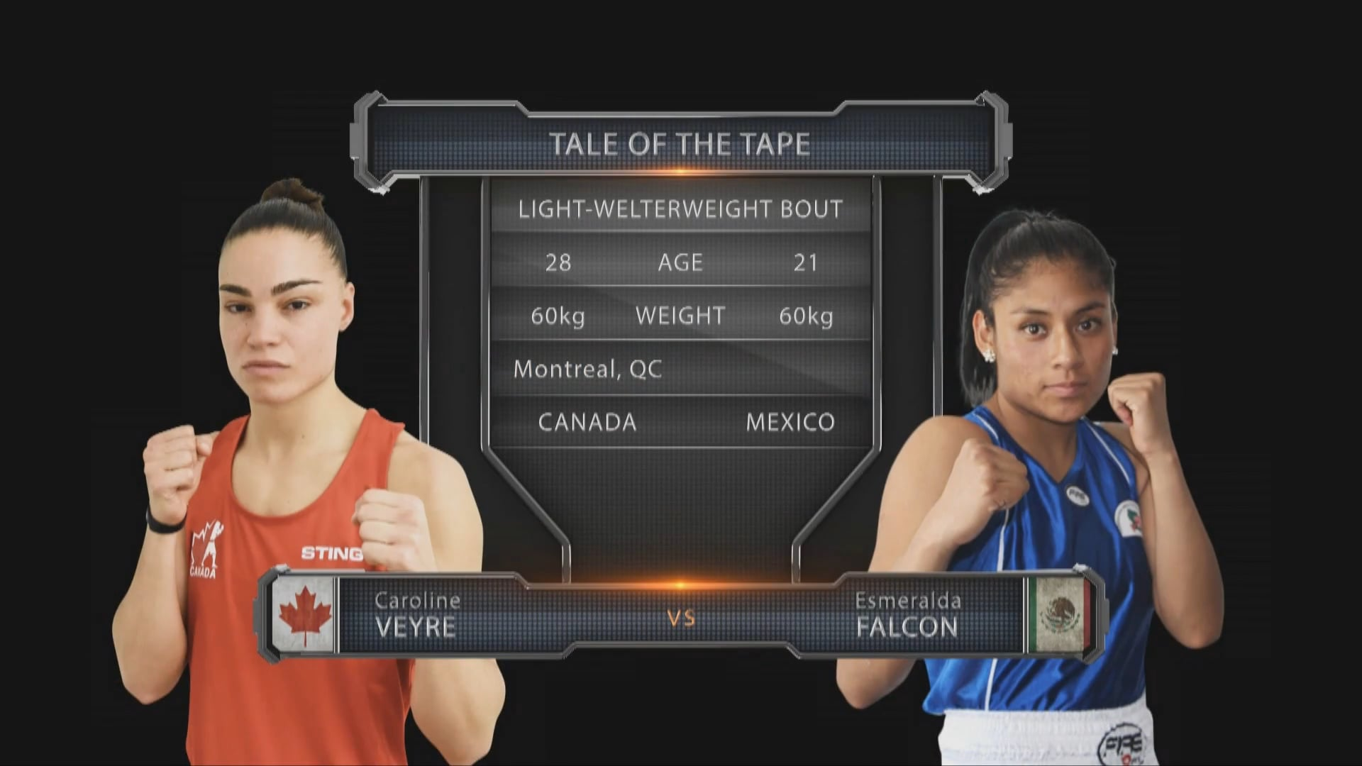 Caroline Veyre (CAN) vs Esmeralda Falcon (MEX)