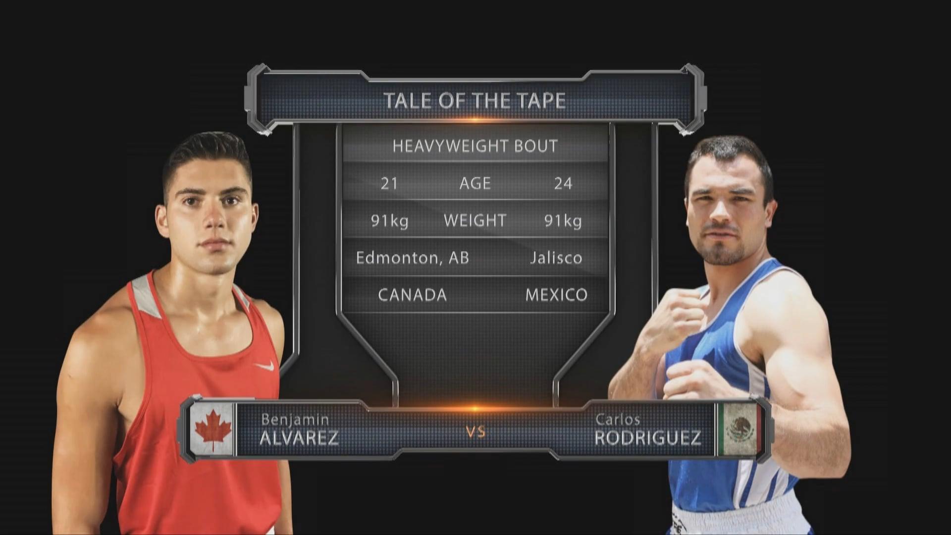 Benjamin Alvarez (CAN) vs Carlos Rodriguez (MEX)