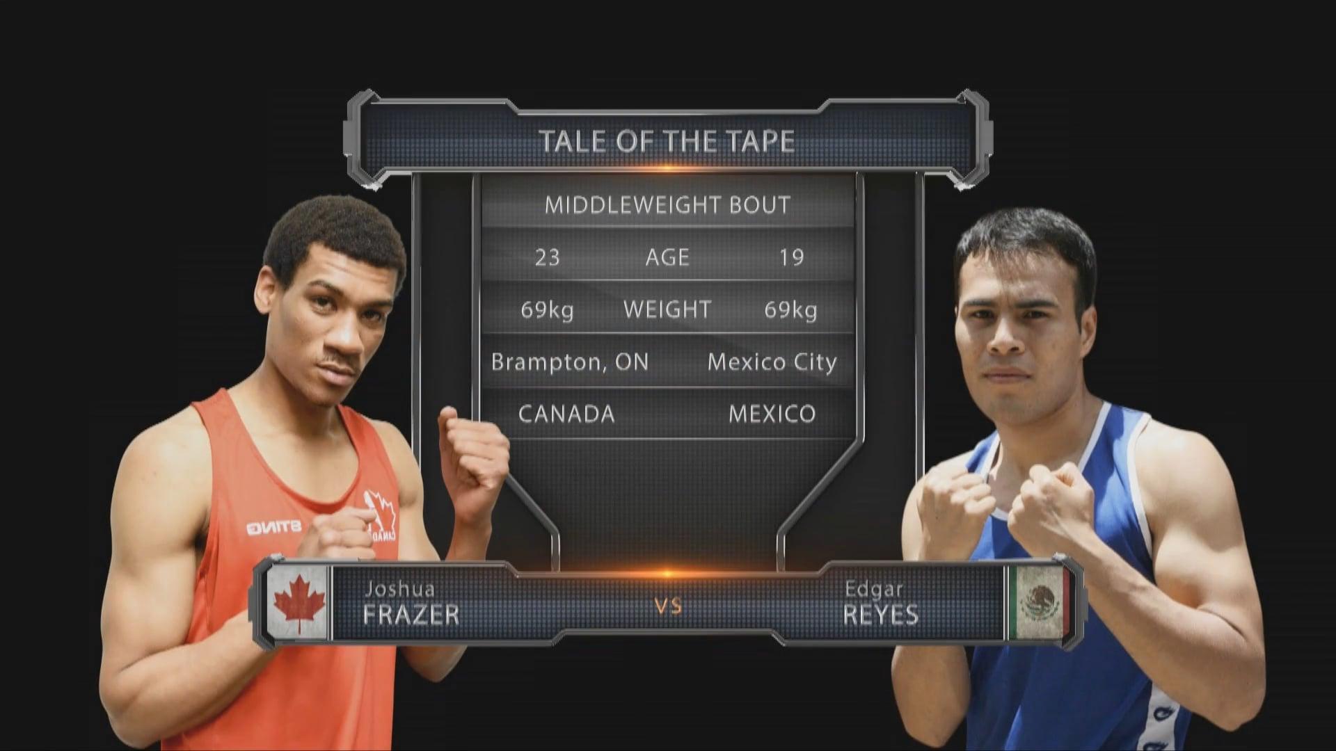 Joshua Frazer (CAN) vs Edgar Reyes (MEX)
