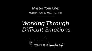 Working Through Difficult Emotions