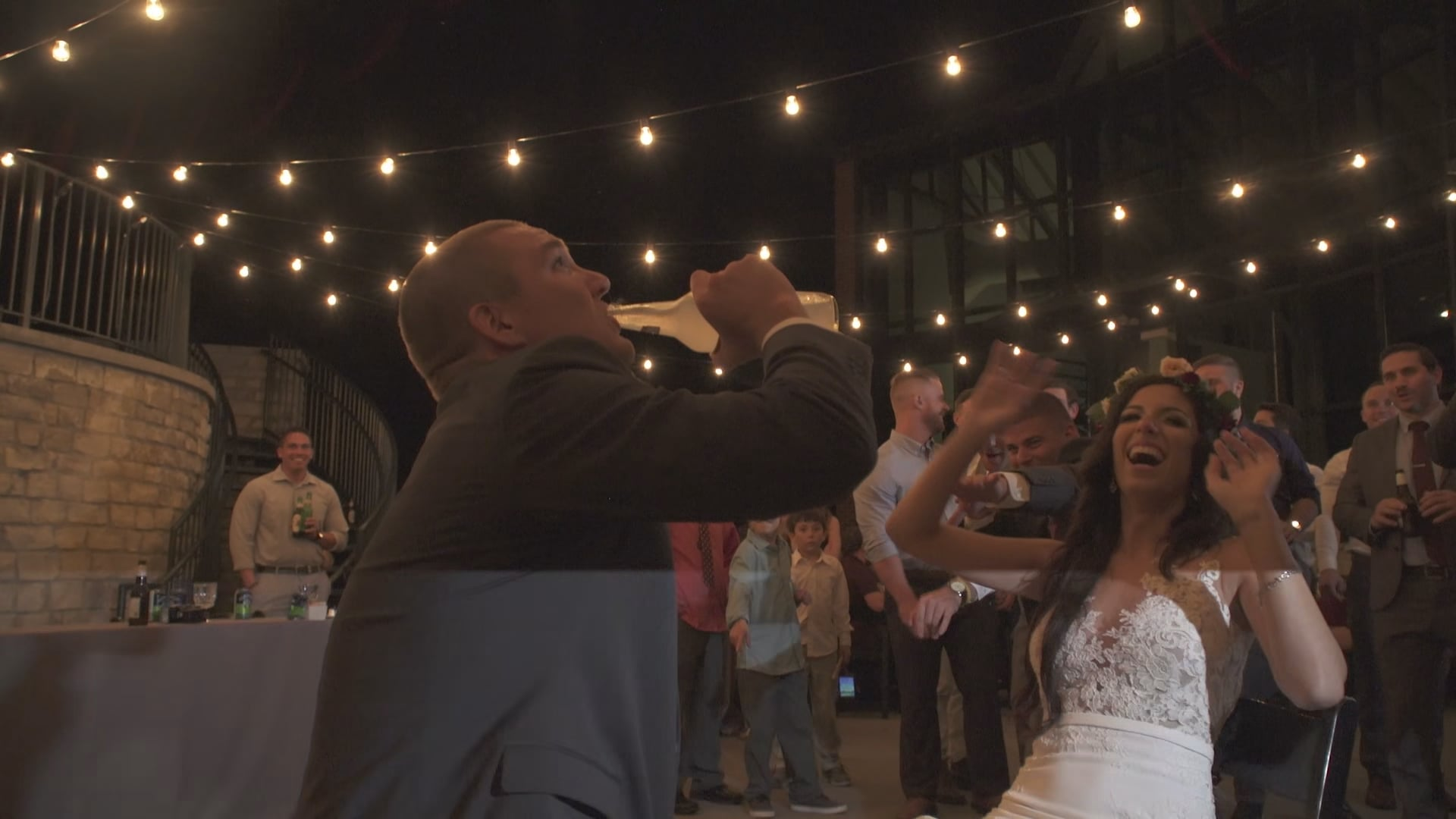 Melissa + Erik Prosser Wedding - Gardner Toss Surprise Icing
