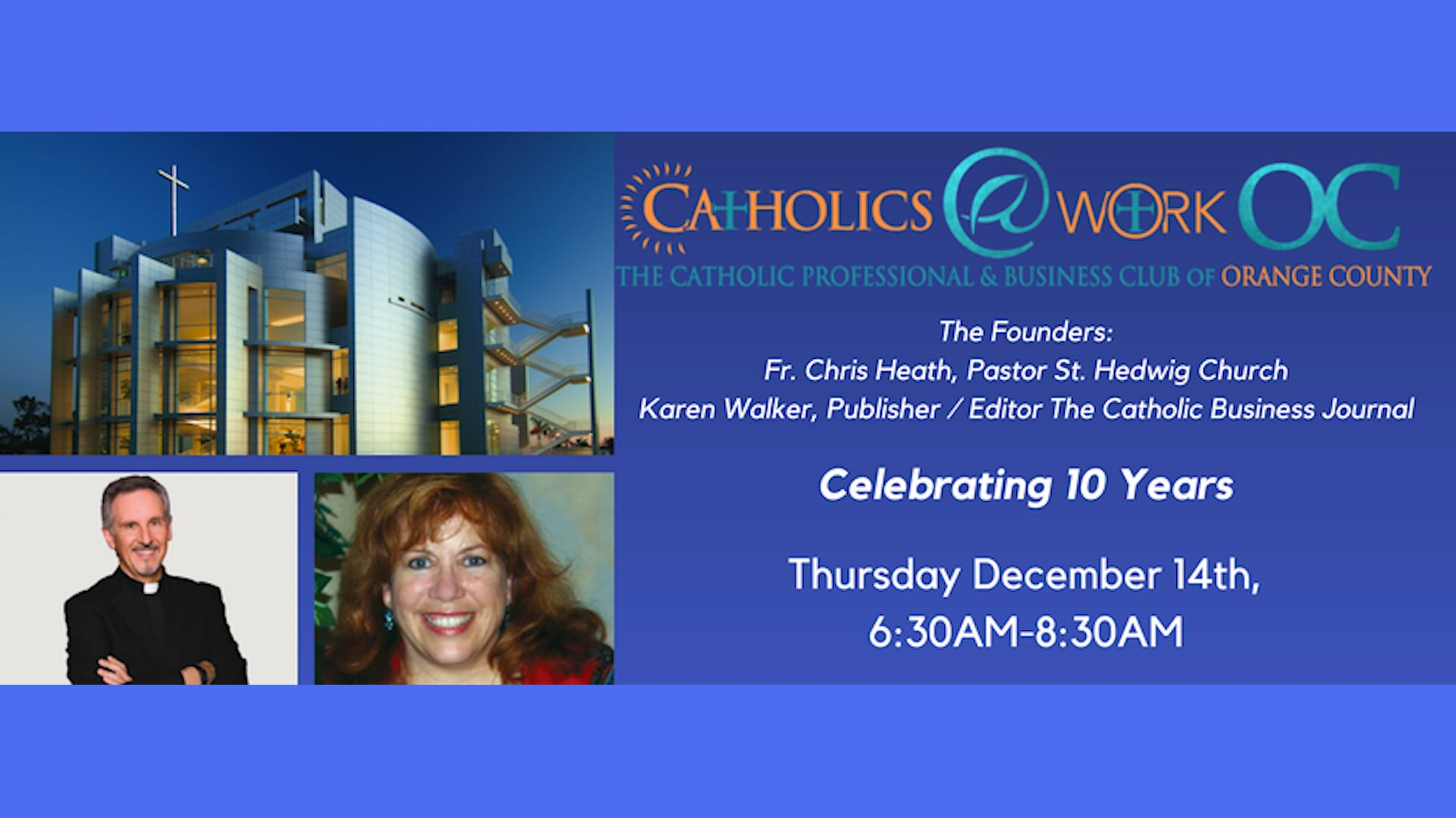 Fr. Chris Heath and Karen Walker