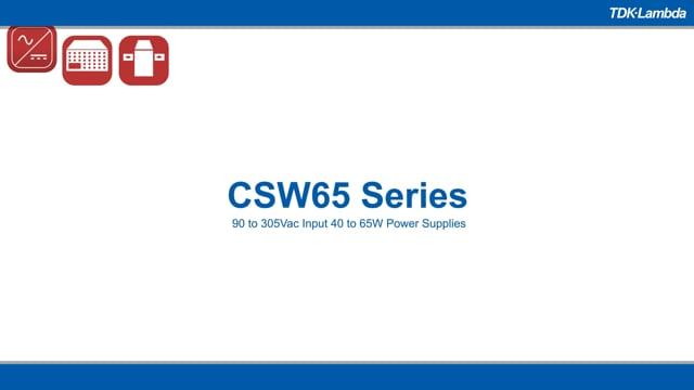 CSW65 40-65W Industrial AC-DC Power Supplies Video