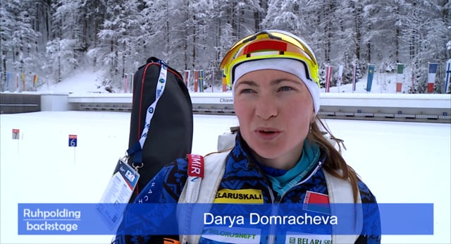 40 Jahre Ruhpolding Darya Domracheva & Ole Einar Björndalen