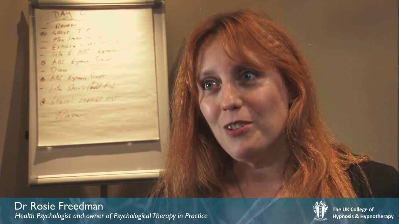 Interview: Dr Rosie Freedman, PhD, Health Psychologist