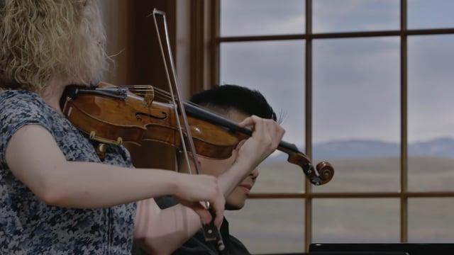 Caroline Goulding and David Fung play Mozart: Sonata for Violin and Piano in E minor, K. 304: Tempo di Menuetto