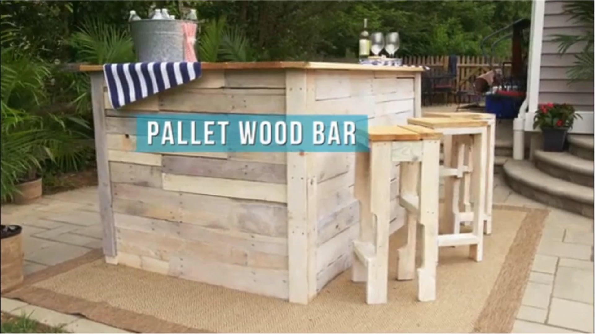 House Hacks Pallet Wood Bar